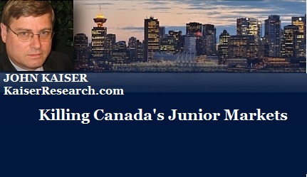 December 12, 2015 : Killing Canada's Junior Markets