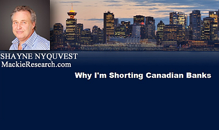 January 27, 2016 : Why I'm Shorting Canadian Banks