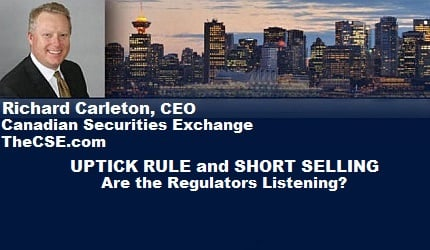 February 13, 2016 :  - Uptick Rule and Short Selling