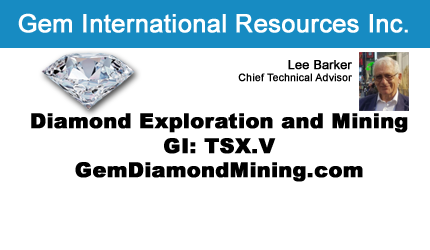 October 2, 2016 : Lee Barker - Early Diamond Production Anticipated from Gem International's Dala Project in Africa