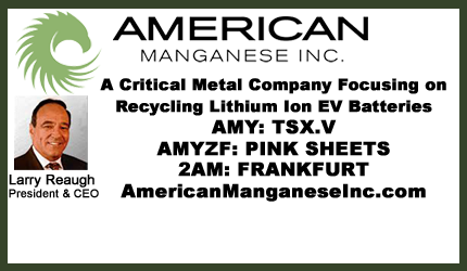 February 16, 2018 : Larry Reaugh - Samsung Mentions American Manganese and Umicore in Bloomberg