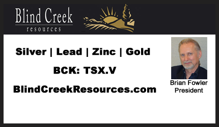 May 3, 2018 : Brian Fowler - Blind Creek States Maiden Blende Resource Estimate