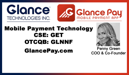 August 17, 2017 : Penny Green - Glance Technologies Follows in Alipay's $1.7 Trillion Footsteps with Mobile Payment Technology