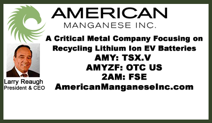 December 14, 2018 : Larry Reaugh - Good News From American Manganese This Week