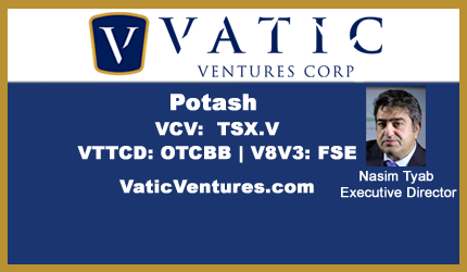 April 25, 2018 : Nasim Tyab - Vatic To Drill Thai Potash Concession