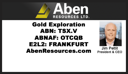 January 30, 2020 : Jim Pettit - CEO Update on Gold Market, Geopolitical Concerns & Overview of Aben's Gold Projects
