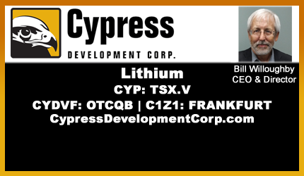 July 15, 2019 : Bill Willoughby - Cypress CEO Dr. Willoughby Discusses Lilac Solutions News Release