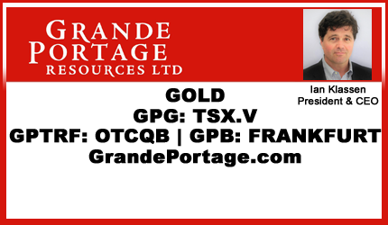 May 7, 2019 : Ian Klassen - Grande Portage Announces Independent Updated Mineral Resource Estimate