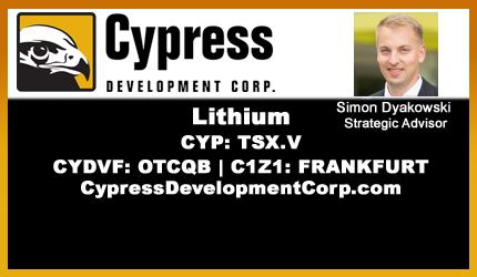 January 28, 2019 : Simon Dyakowski - Cypress' Clayton Valley Lithium Project Progress Update