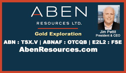 July 28, 2020 :  - Aben Resources Begins 2020 Geologic Reconnaissance Program at Forrest Kerr Gold Project